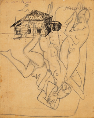 Untitled (House in Goa) recto; Untitled (Nudes)