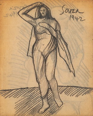 Untitled (Standing Figure) recto; Untitled (figure) verso