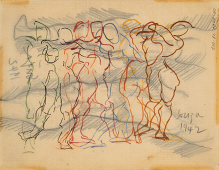Untitled (Figure Composition) recto; Untitled verso