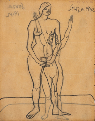 Untitled - (Standing Nude) recto; Untitled (Nude ) verso
