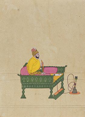 Balwant Singh smoking Hookah