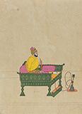 Vijay  Sharma-Balwant Singh smoking Hookah