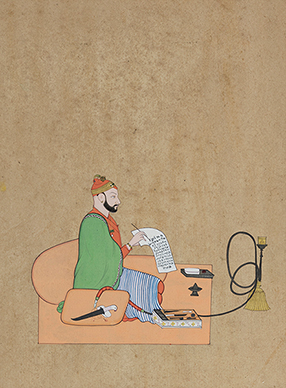 Balwant Singh writing a Letter