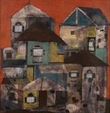 Houses with Birds - Badri  Narayan - Summer Online Auction