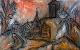 Untitled (Evening Landscape with Church) - Lancelot  Ribeiro - Summer Online Auction