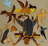 Bird Spirits and Flayed Buffalo - K G Subramanyan - Creative Circuit: The Art of K G Subramanyan