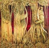 Bhishma with Arjun - Ompal  Sansanwal - Art Rises for India: A Covid-19 Relief Fundraiser Auction by the Indian Art Community