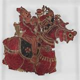KING ON HORSEBACK (LEATHER SHADOW PUPPET) -    - REDiscovery: Auction of Art and Collectibles