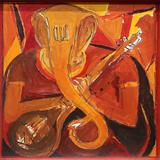 Ganesh with Veena - S H Raza - Raza: The Bindu and Beyond