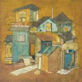 Houses with a Tiled Path - Badri  Narayan - ALive: Evening Sale of Modern and Contemporary Art