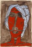 Untitled (Man in Turban) - M F Husain - ALive: Evening Sale of Modern and Contemporary Art
