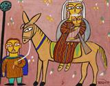 Untitled (Flight into Egypt) - Jamini  Roy - ALive: Evening Sale of Modern and Contemporary Art