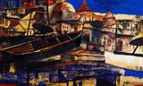 Paresh  Maity-Light in Banaras Ghat
