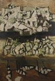 Benaras Ghat - 2 - M F Husain - ALive: Evening Sale of Modern and Contemporary Art