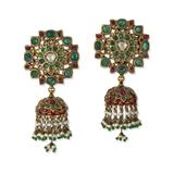 PAIR OF GEMSET EARRINGS -    - Online Auction of Fine Jewels