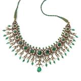 EMERALD AND DIAMOND POLKI NECKLACE -    - Online Auction of Fine Jewels