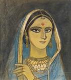 Woman - Ganesh  Pyne - Spring Live Auction | Modern Indian Art