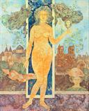 Le Miroir du Temps (Mirror of Time) - Sakti  Burman - Spring Live Auction | Modern Indian Art