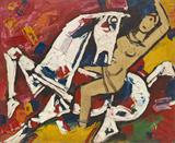 Untitled - M F Husain - Spring Live Auction | Modern Indian Art