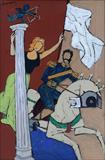 The Cupid - M F Husain - Spring Live Auction | Modern Indian Art