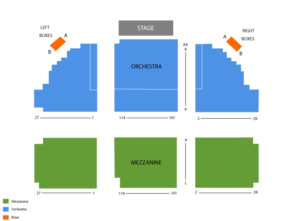 Seating Chart Music Box Theatre (NY)
