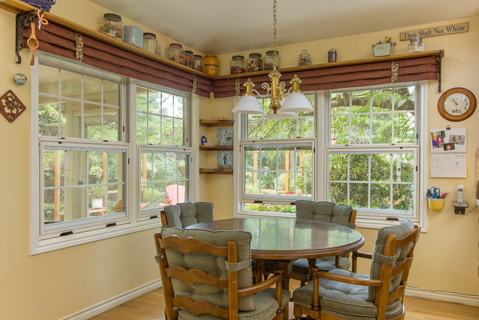 Kitchen Informal Dining Room with Backyard Views