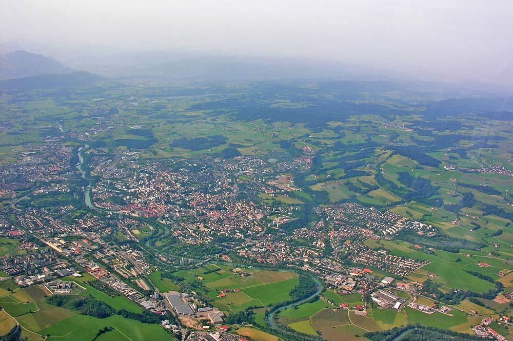 Luftaufnahme von Kempten