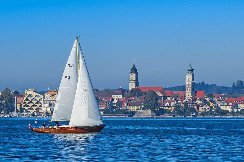 Segelschiff auf dem Bodensee bei Lindau