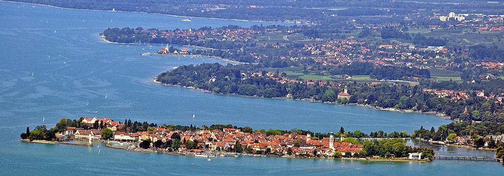 Blick vom Pfänder auf Lindau am Bodensee