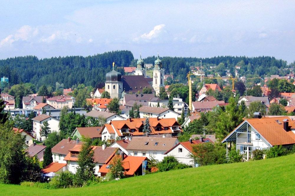 Blick von Südwesten auf Lindenberg im Allgäu