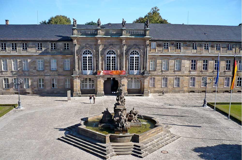 Neues Schloss in Bayreuth vom Präsidialbau aus gesehen