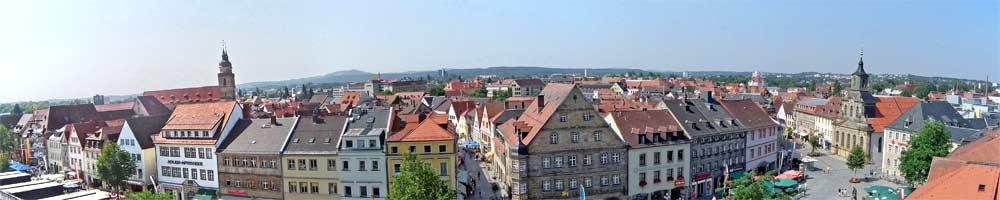 Panorama der Altstadt Bayreuths