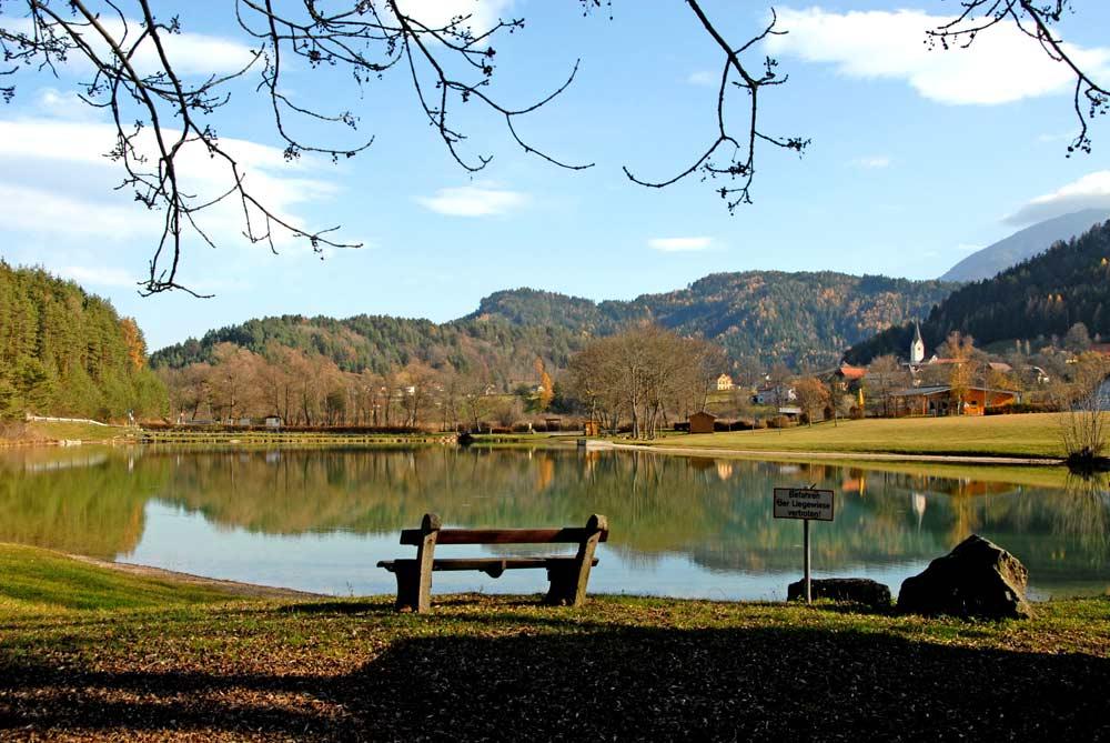 Ufer des Sonnegger Sees bei Sittersdorf