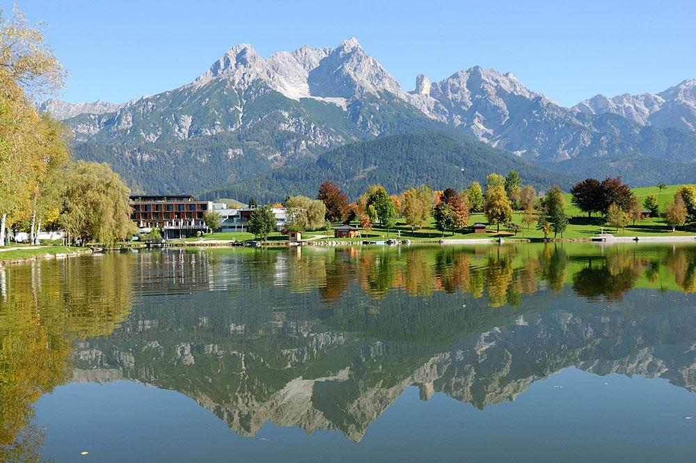 Blick auf den Ritzensee bei Saalfelden