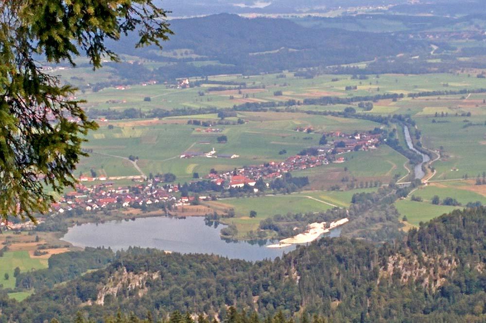 Blick auf Kochel am See am Kochelsee
