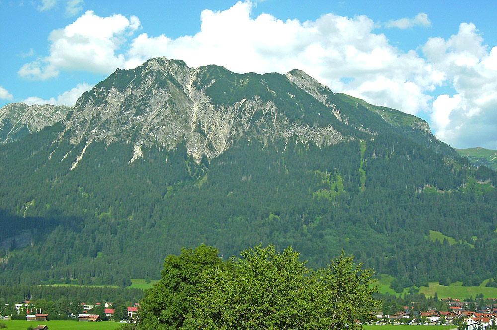 Blick von Oberstdorf aufs Nebelhorn