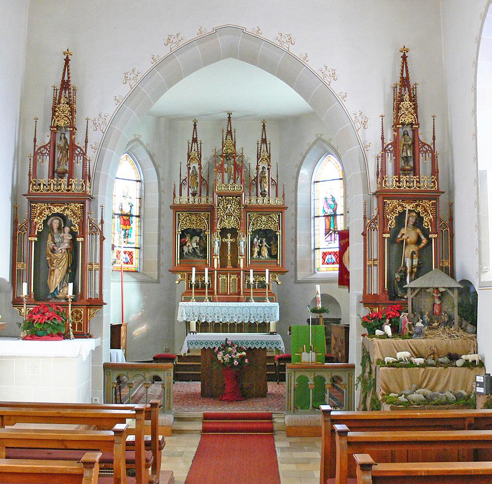 Altäre in der Kirche St. Georg von Deggenhausertal