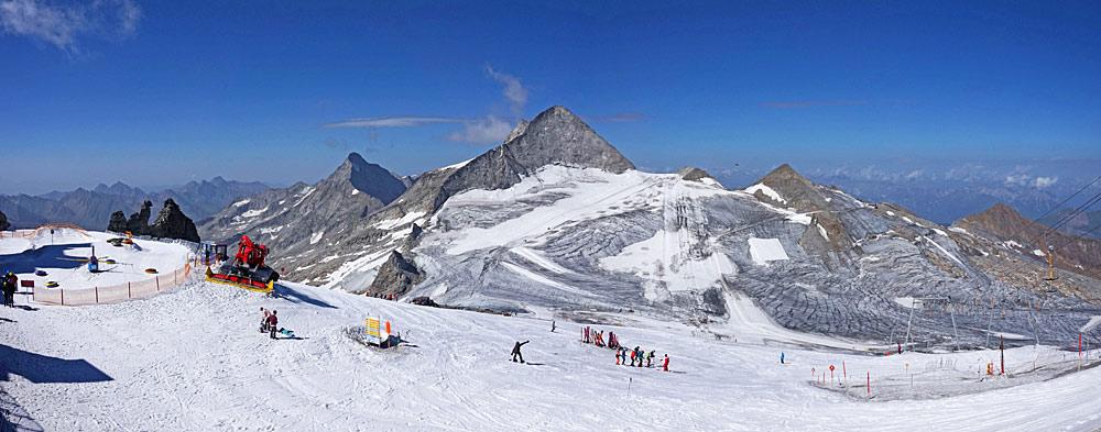 Skigebiet am Hintertuxer Gletscher