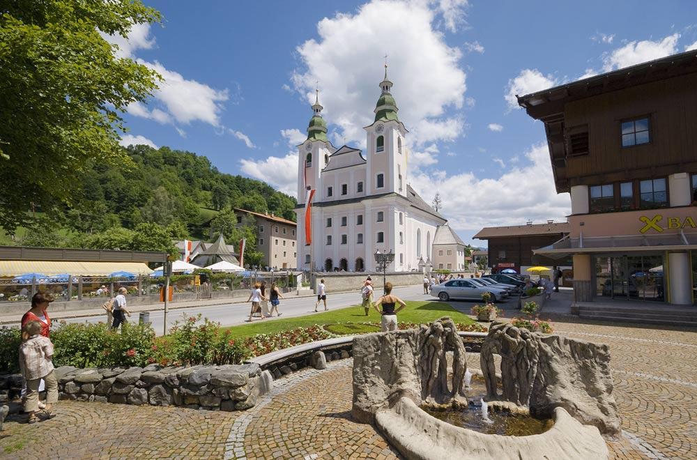 Ortszentrum von Brixen im Thale