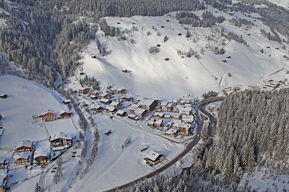 Luftaufnahme von Gerlos im Zillertal
