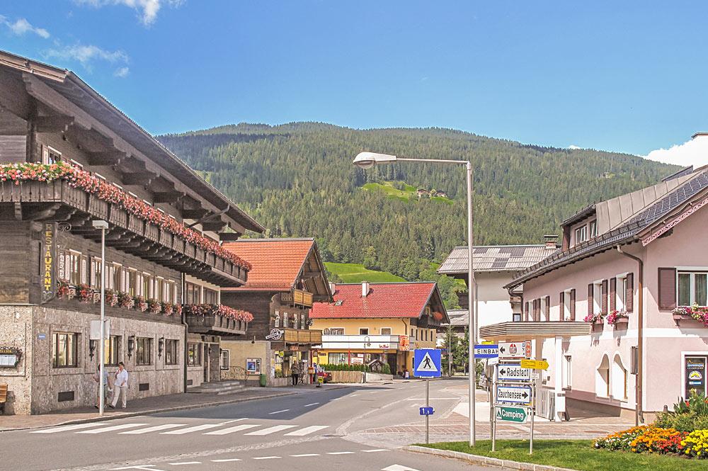 Blick ins Zentrum von Altenmarkt