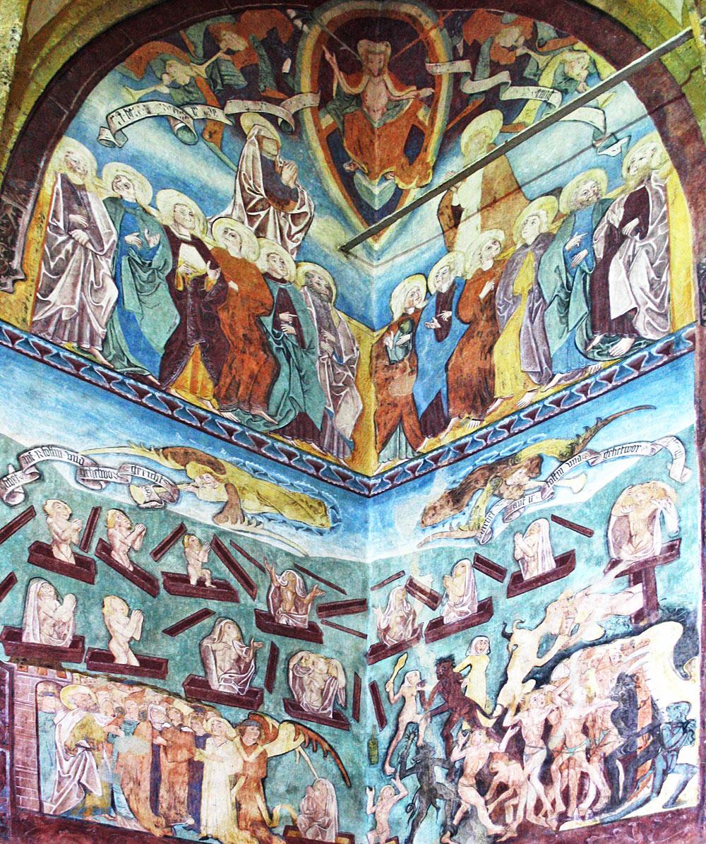 Das Fresko in der Nikolauskirche Bad Gastein