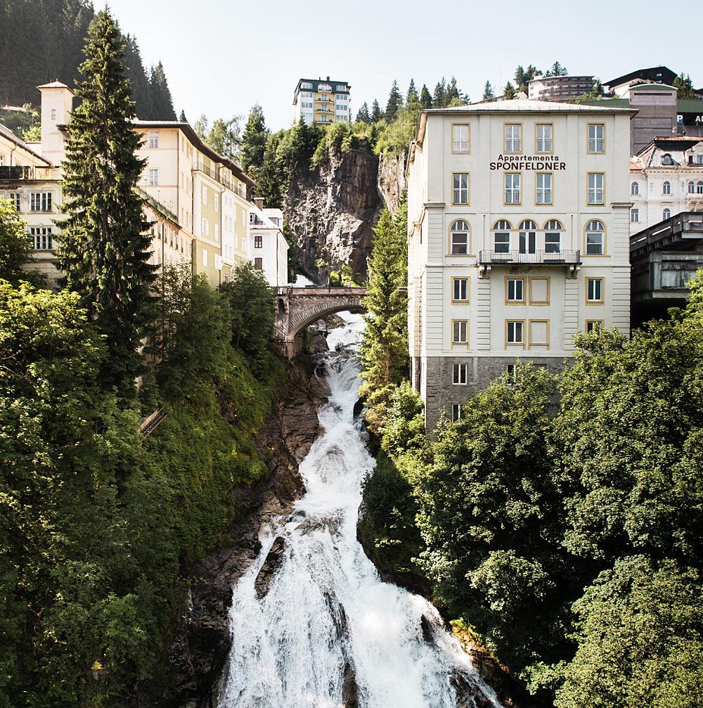 Blick auf den Gasteiner Wasserfall in Bad Gastein