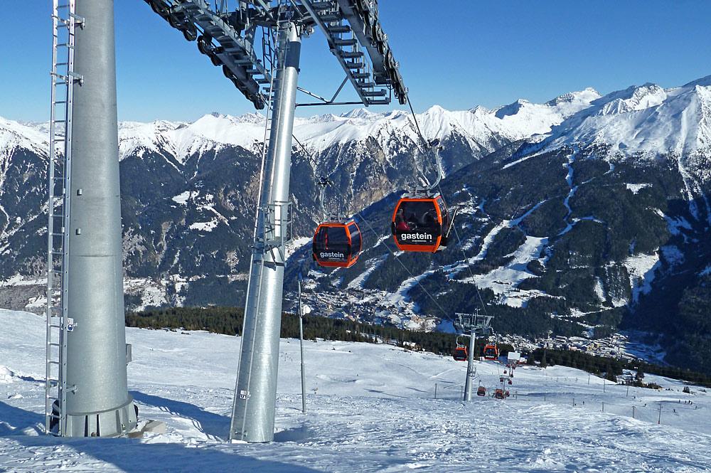 Gondelbahnen der Stubnerkogelbahn im Skiverbund Gasteinertal