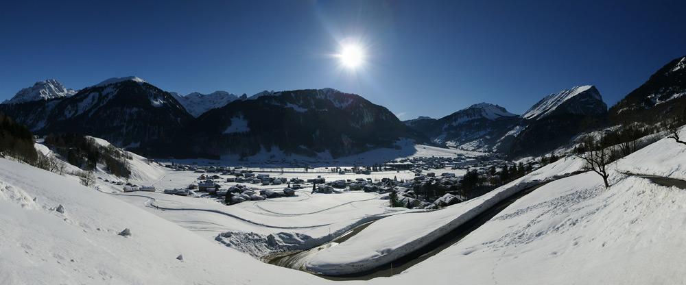 Panoramablick auf Au im Bregenzerwald