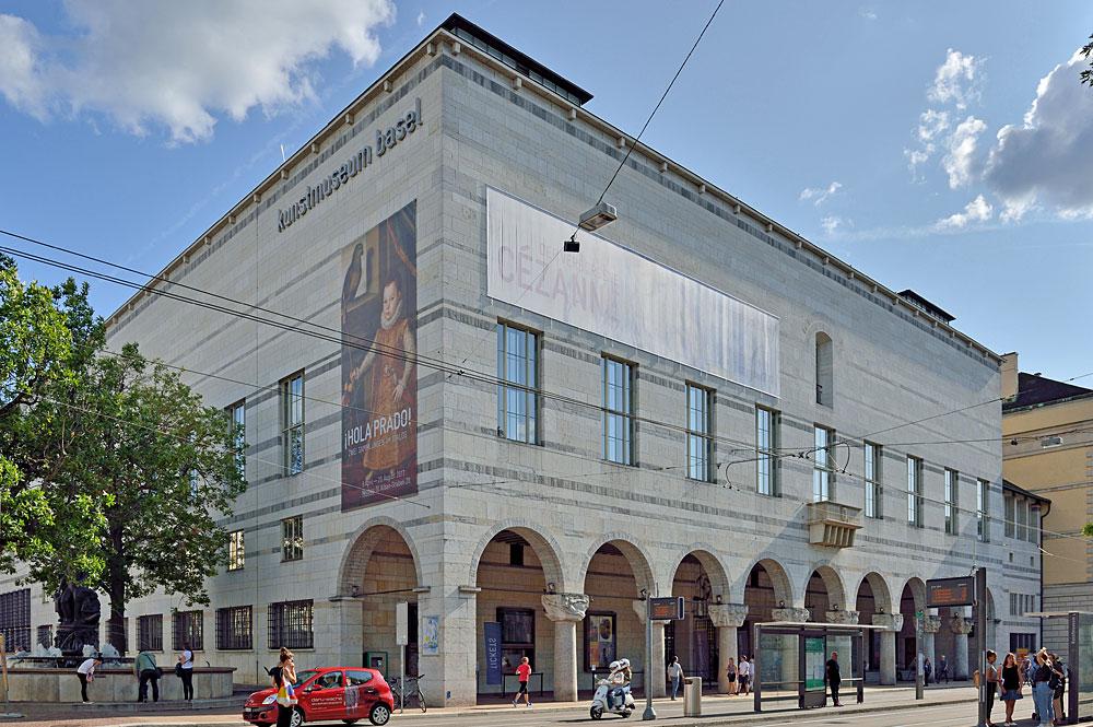 Außenansicht des Altbaus des Kunstmuseums Basel