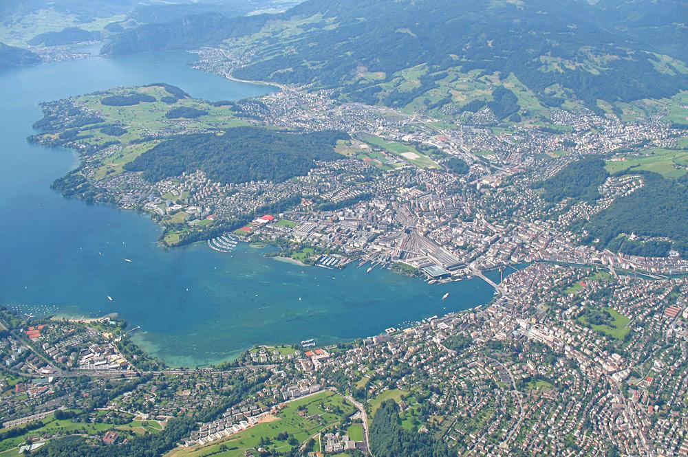Luftaufnahme von Luzern