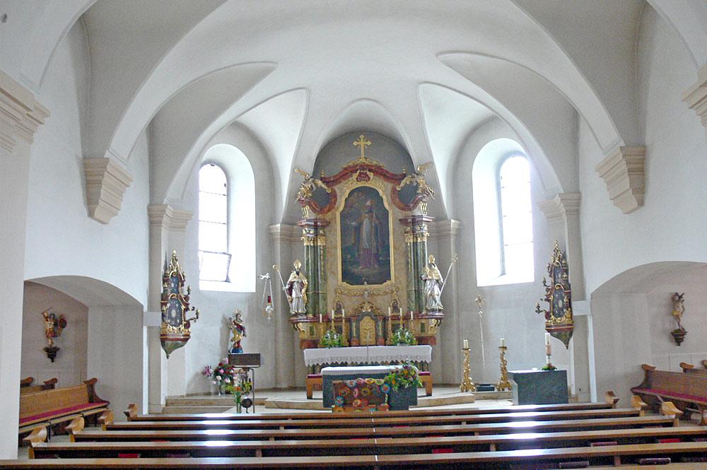 Innenraum der Pfarrkirche Ulrichsberg