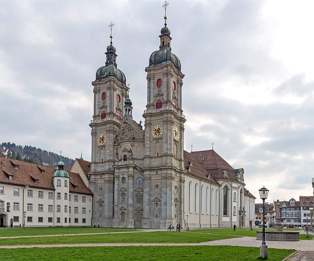 Außenansicht der Stiftskirche St. Gallen