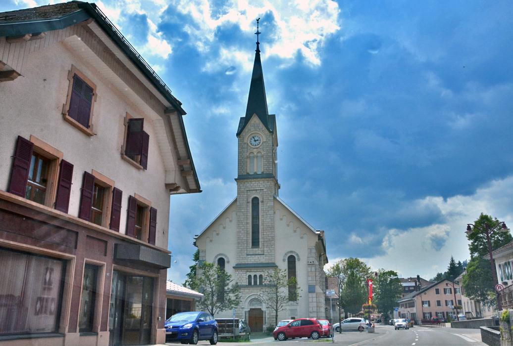 Kirche im Gemeindeteil Le Sentier